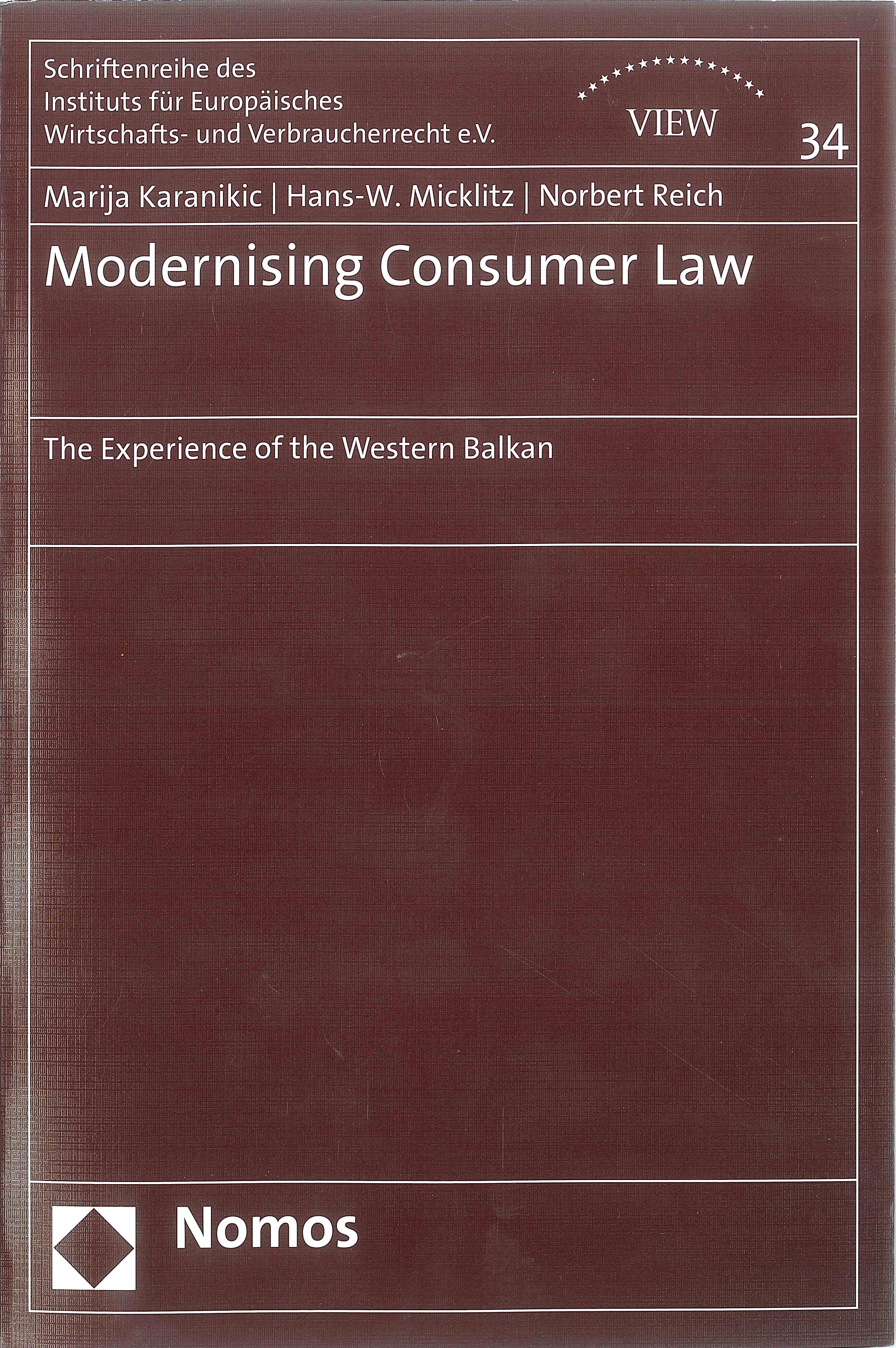 Modernising Consumer Law: The experience of the Western Balkan
