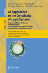 AI approaches to the complexity of legal systems: models and ethical challenges for legal systems, legal language and legal ontologies, argumentation and software agents