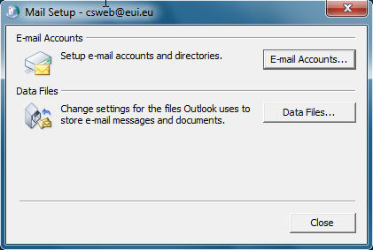 Configuring Windows MS Outlook 2007 or later for use with