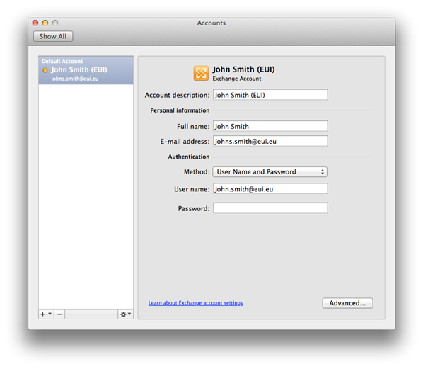 Configuring MS Outlook 2011 for Mac for Use with Office 365