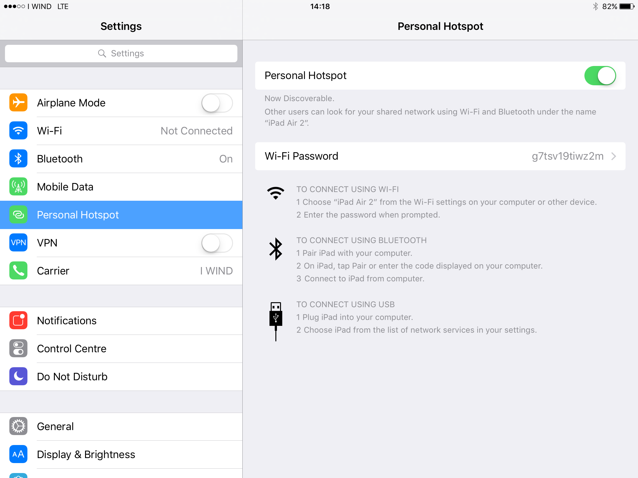 Tethering (Personal Hotspot) Configuration on iOS • European