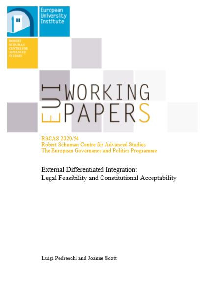 External differentiated integration : legal feasibility and constitutional acceptability