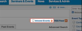 Activate Intranet Events