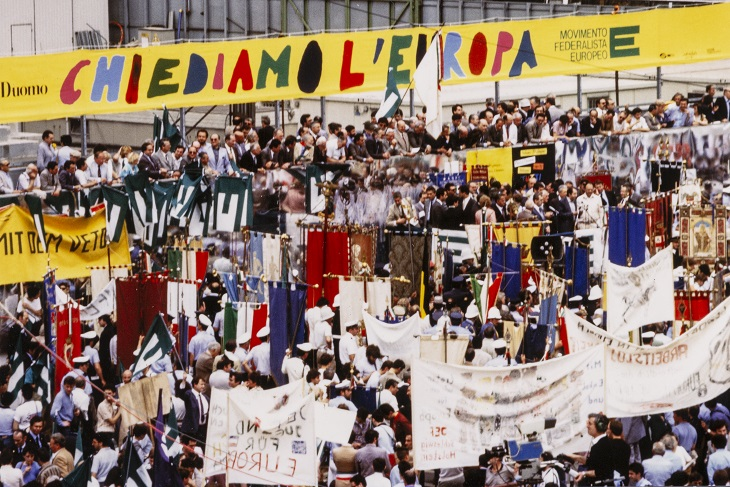 Federalist demonstration in Milan, 29 June 1985. HAEU, UEF 415