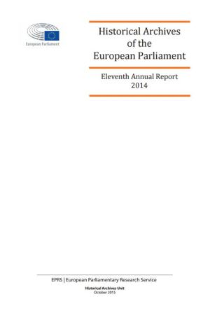Annual Report of the Historical Archives of the European Parliament