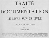 Paul Otlet traite de documentation